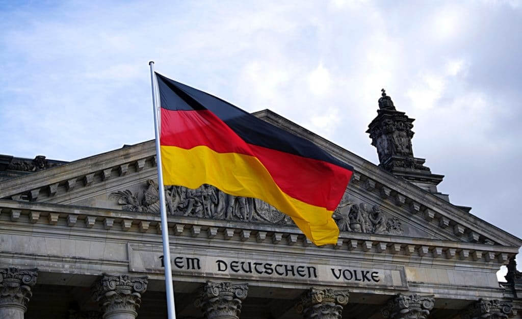 A German flag spotted by STB's team of German translators