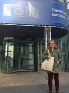 Resource Manager, Allison, outside the European Commission