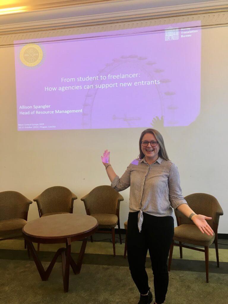 Allison giving her presentation